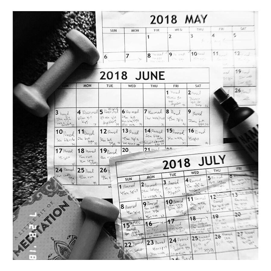 My accountability calendars