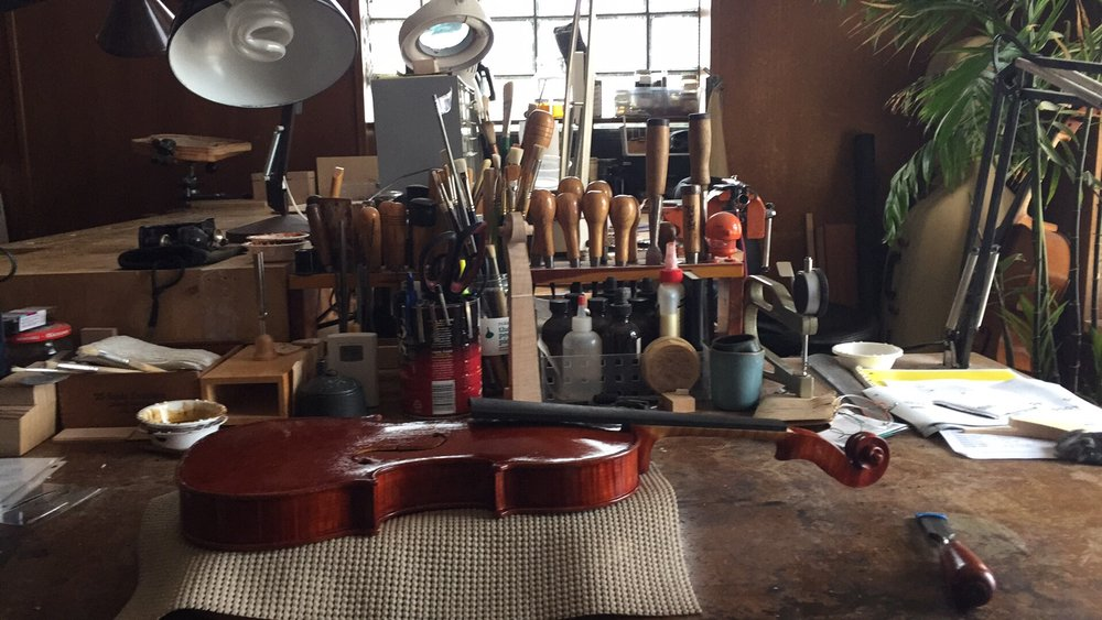 violin set up