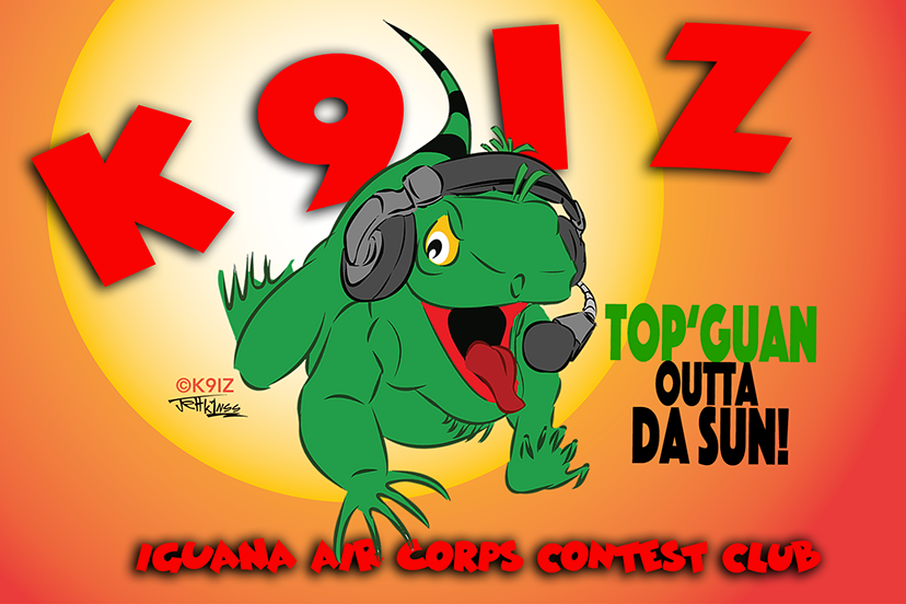 ©K9IZ We adapted the logo for the Iguana Air Corps club QSL, which some members customized with their own calls. If we design your logo, you own it, and we can help with any adjustments needed for a variety of applications.