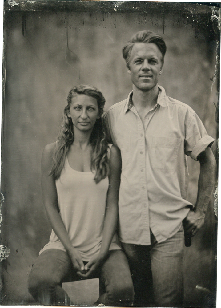 Trevor and Karly 2017    Tin Type, Wet Plate collodion process from the 1800's