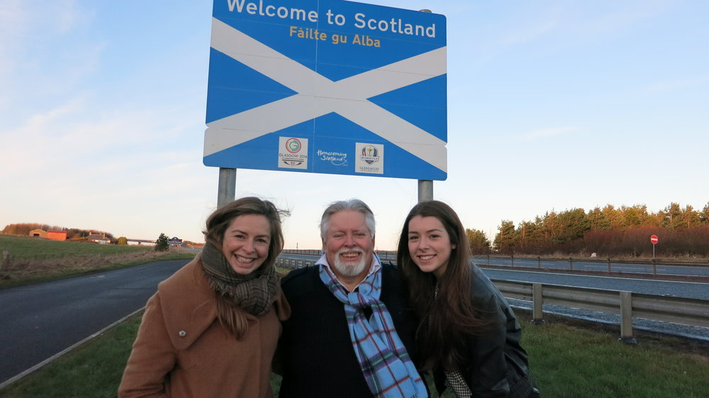"A special moment with Lisa Henderson and her daughter Chloe. Lisa, first met online, was first to buy into my dream to move to Scotland writing a wonderful article about by dream for the online edition of the national newspaper, ""The Scotlsman."""