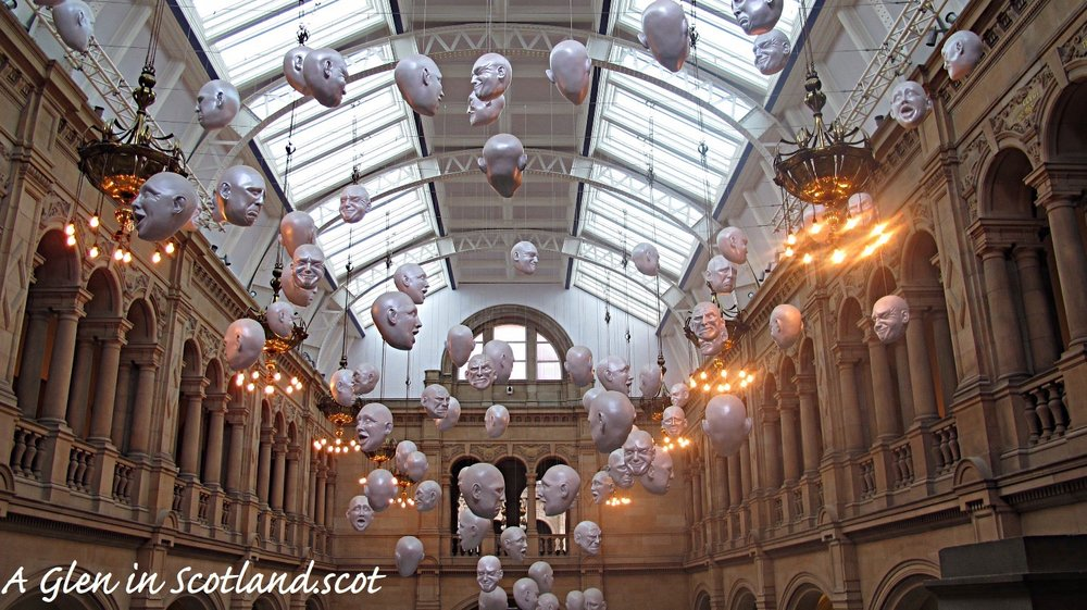 Floating Heads, Kelvingrove, Glasgow