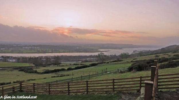 Sunset on River Clyde, Old Kilpatrick Hills
