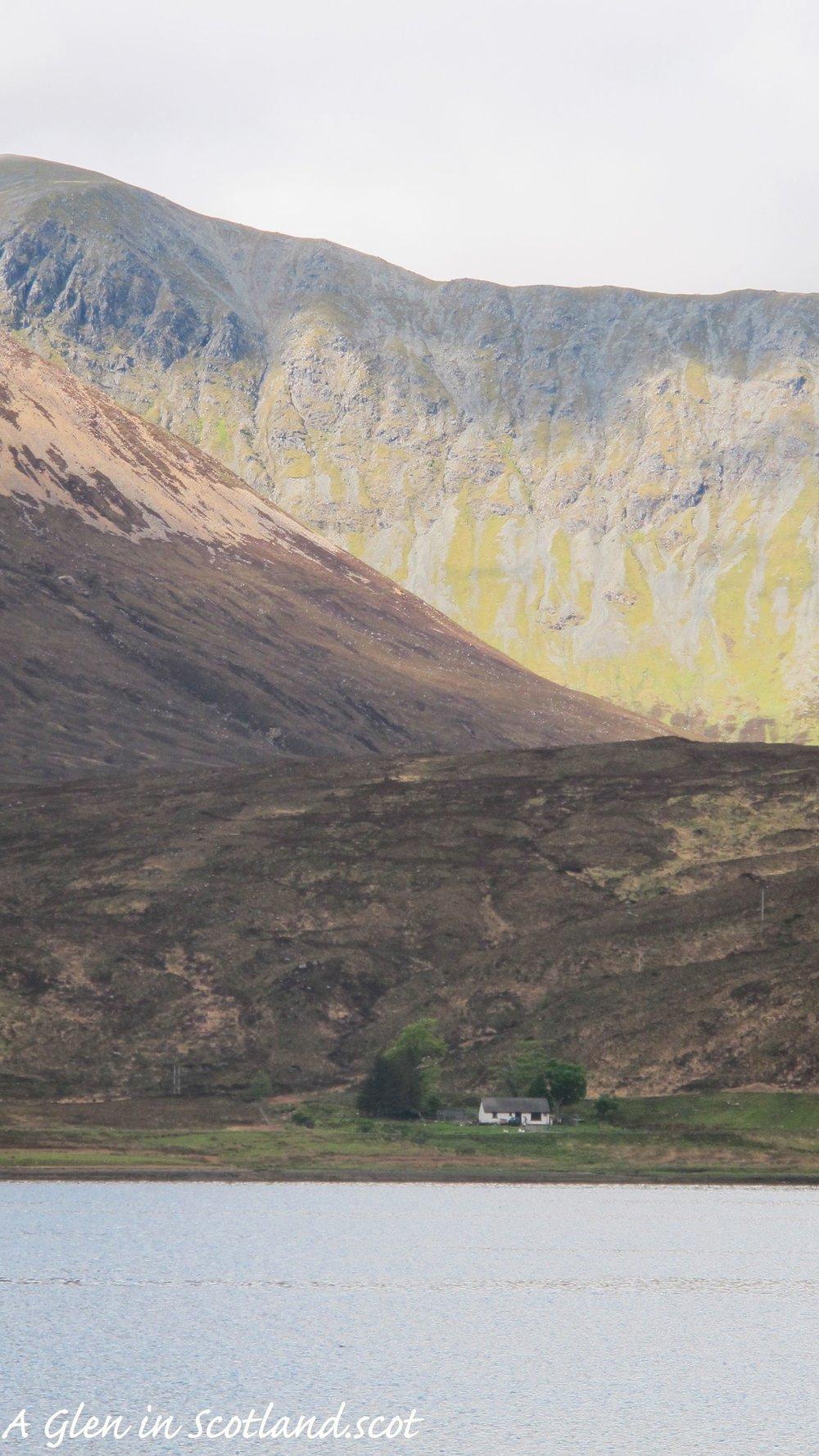 Wee hoose on Loch Ainort, Isle of Skye