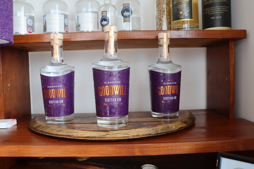 """ GOODWILL"" is the new, locally distilled gin offering from GlenWyvis, it features nine botanicals including locally picked hawthorn and is available at a growing number of stockists and the distillery's online shop."