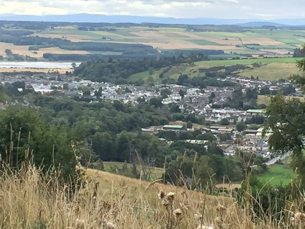 The GlenWyvis Distillery sits high in the hills overlooking the village of Dingwall.