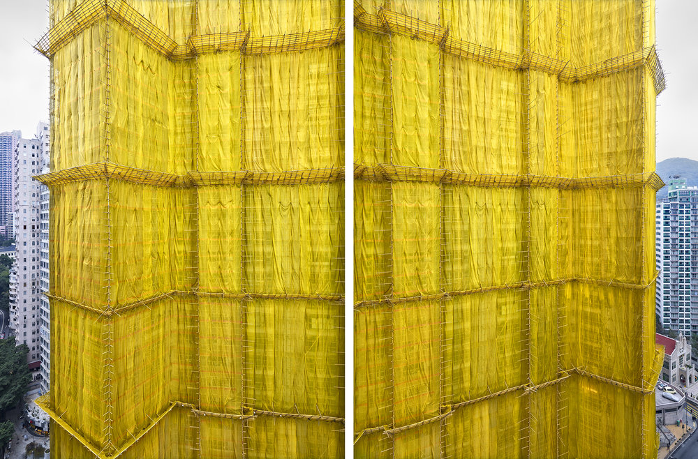 Yellow Cocoon #2, Kong Kong - 2011  (Diptych)