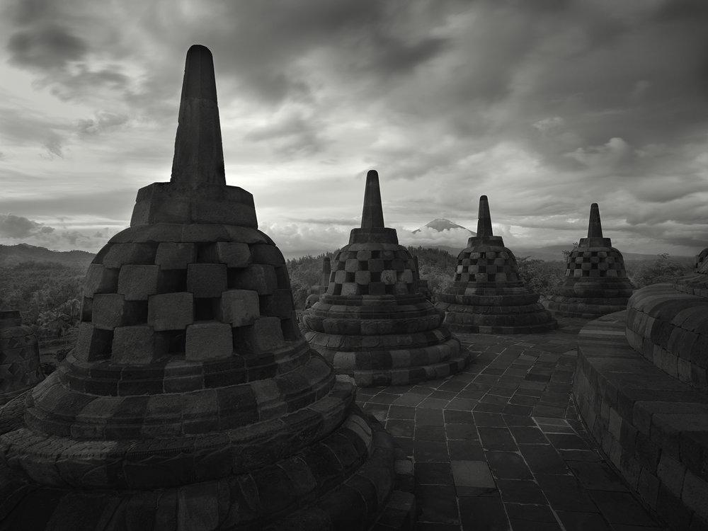Borobudur Stupas #1, Indonesia - 2011.jpg