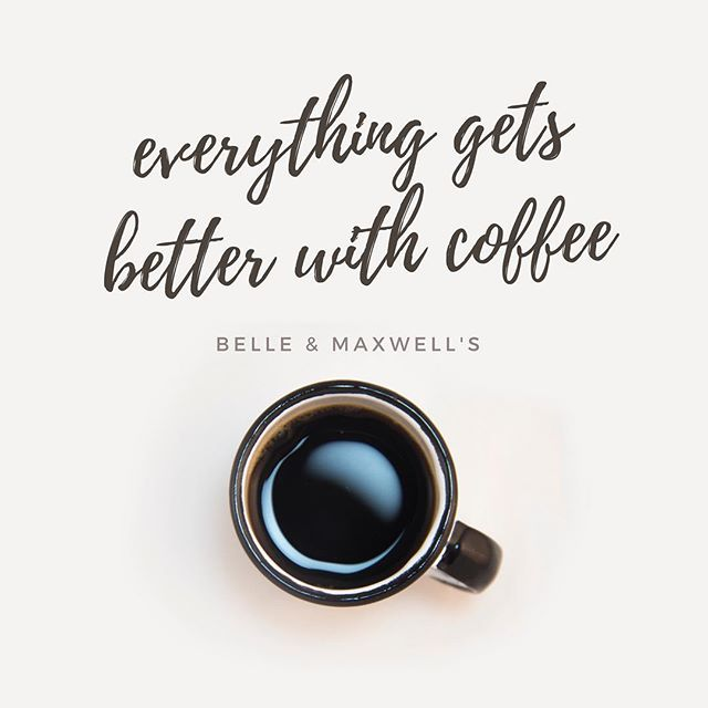 Everything always gets better with our coffee! ☕️ Happy Friday! . . #belleandmaxwells #antiquerowwpb #westpalmbeach #ilovewpb #soflo #coffee #friday #fridayvibes
