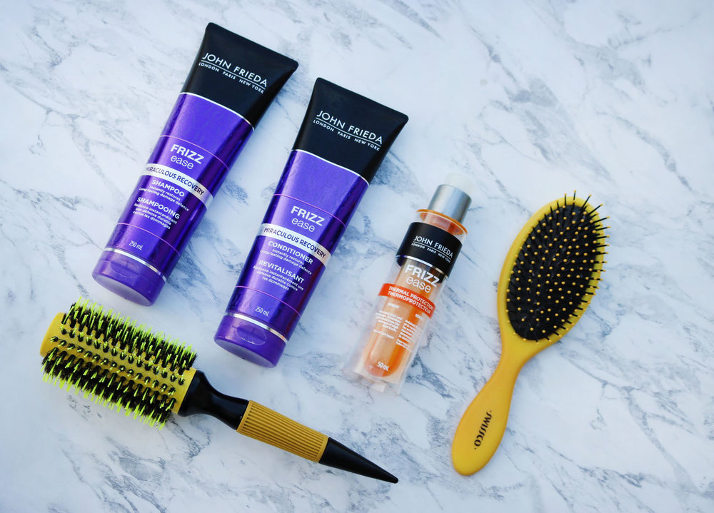 John Frieda Frizz Ease Shampoo, Conditioner & Thermal Protector Serum