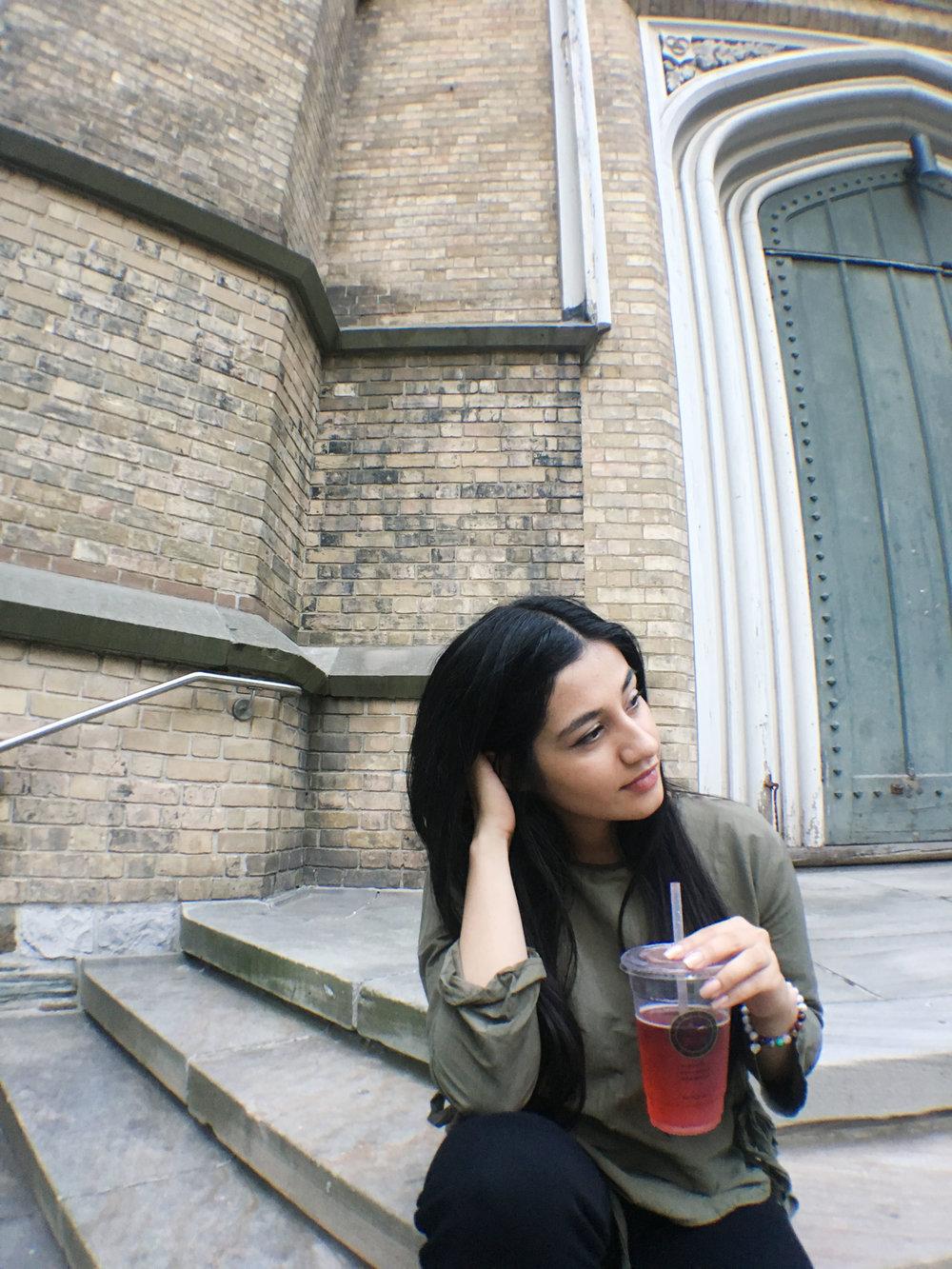Toronto Eaton Center with the Fruit Sensation Tea Soda - Infuse Menu