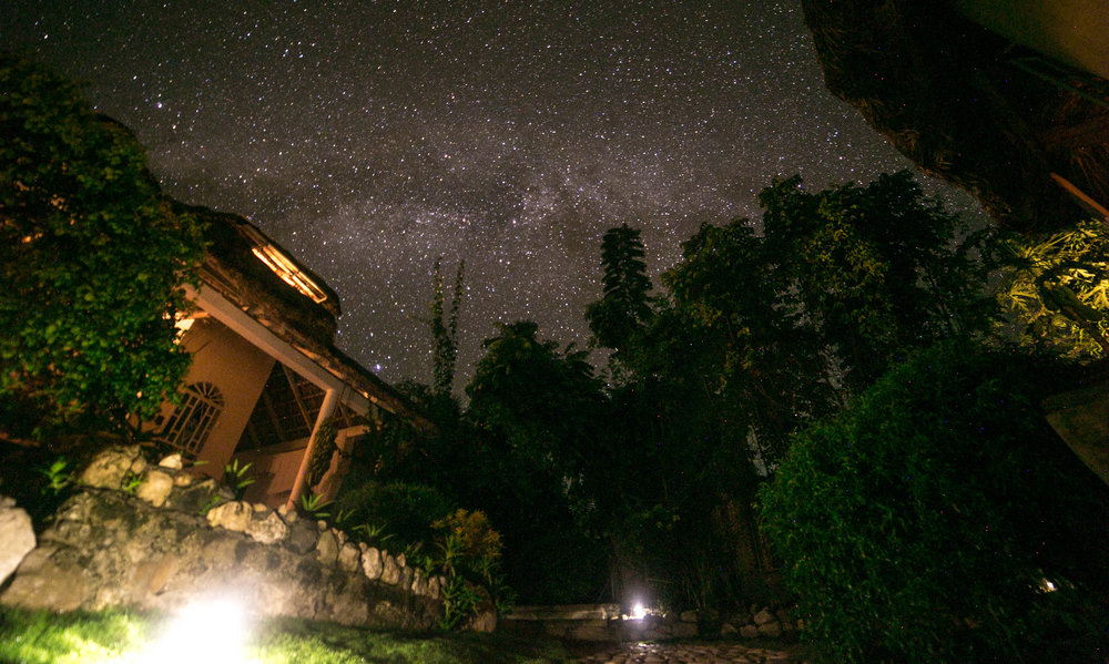 The Milky Way captured from Chic Chateau's moon deck - by Walter Mirkss
