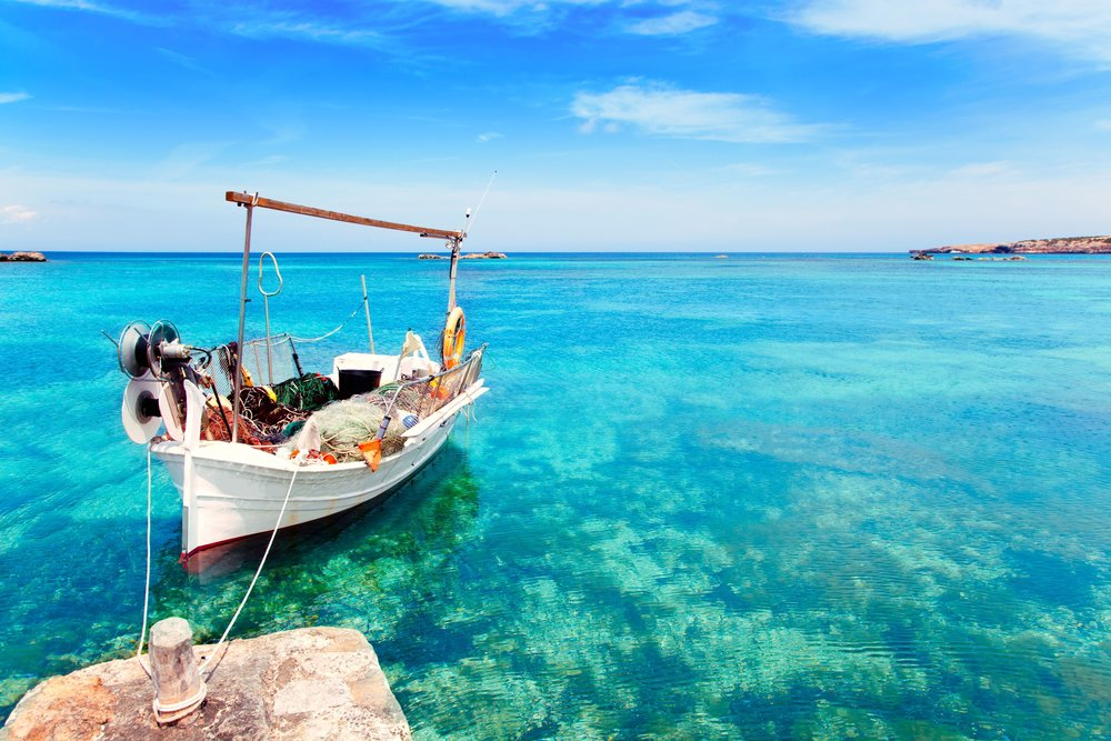 Cover 6 Els Pujols beach in Formentera with traditional fishing boat.jpg