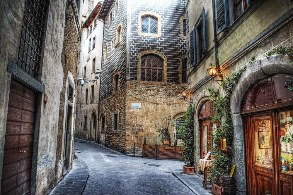 beautiful narrow street in Florence, Italy.jpg