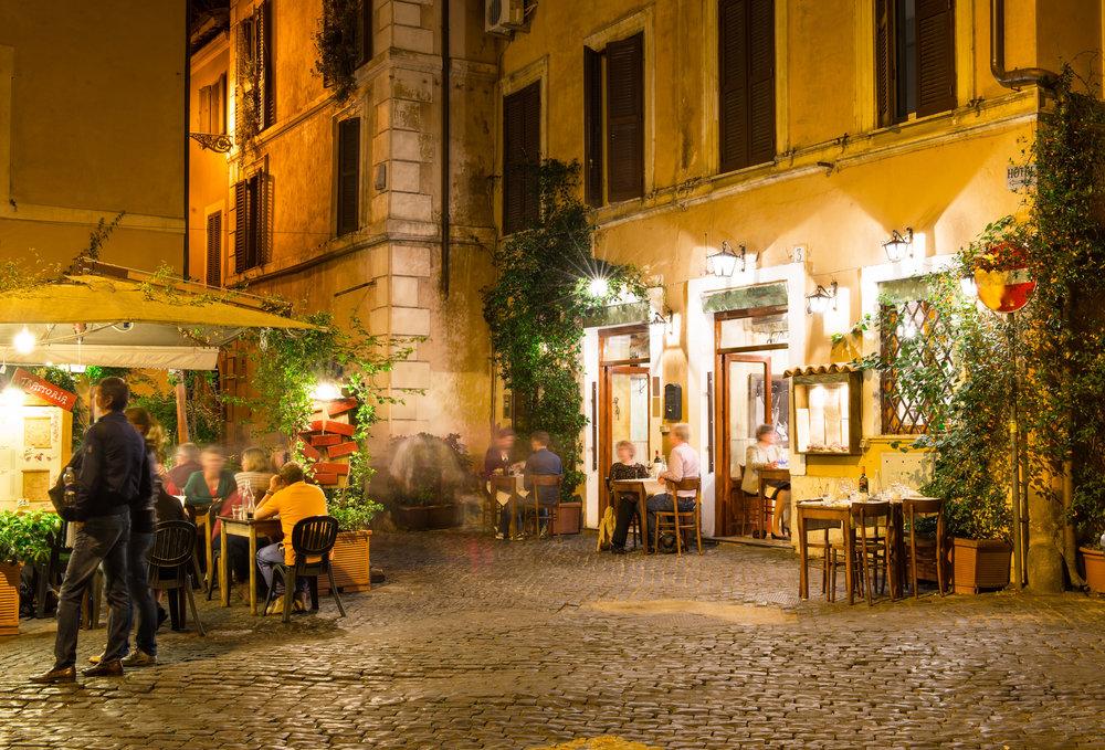 Cover 6 Old street in Trastevere in Rome, Italy (rome, cafe, roma).jpg