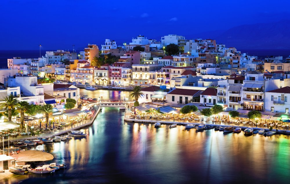 Agios Nikolaos.Agios Nikolaos is a picturesque town in the eastern part of the island Crete built on the northwest side of the peaceful bay of Mirabello..jpg