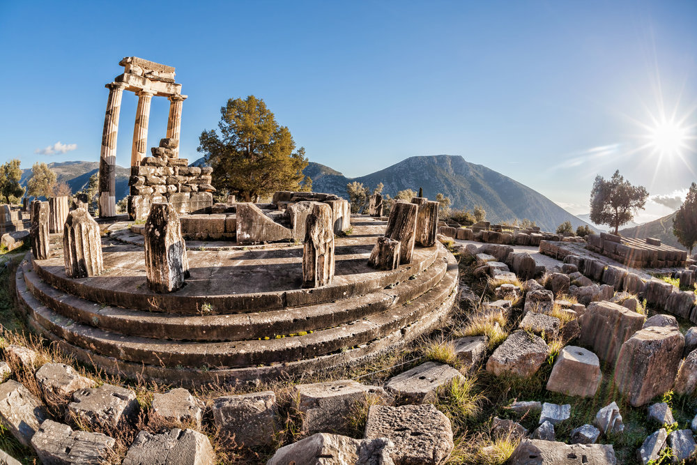Famous Delphi with ruins of the Temple in Greece (greece).jpg