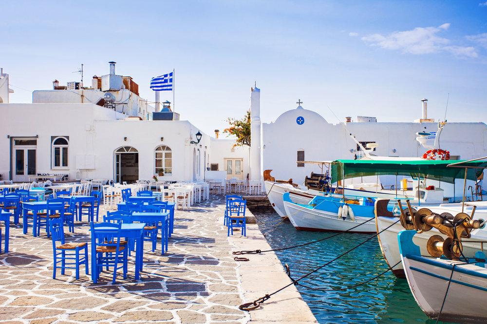 Greek fishing village in Paros, Naousa, Greece (food).jpg