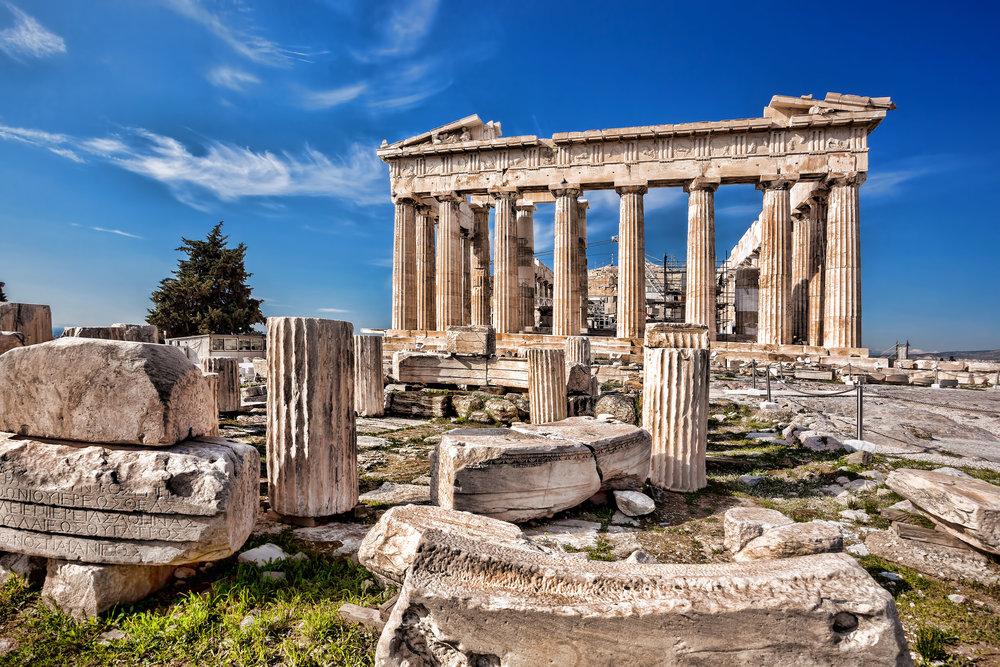 Parthenon temple on the Acropolis in Athens Greece.jpg