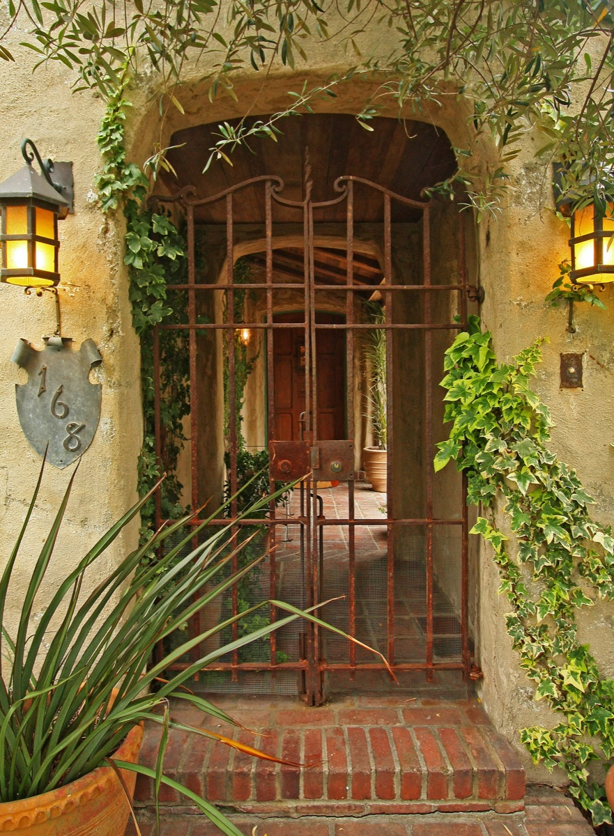 Antique hand wrought iron gate.