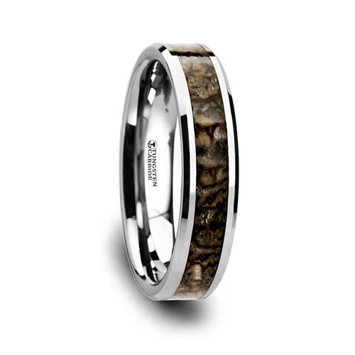 Ordovician Dinosaur Bone Wedding Ring — Unique Titanium Wedding Rings dcd6e8520
