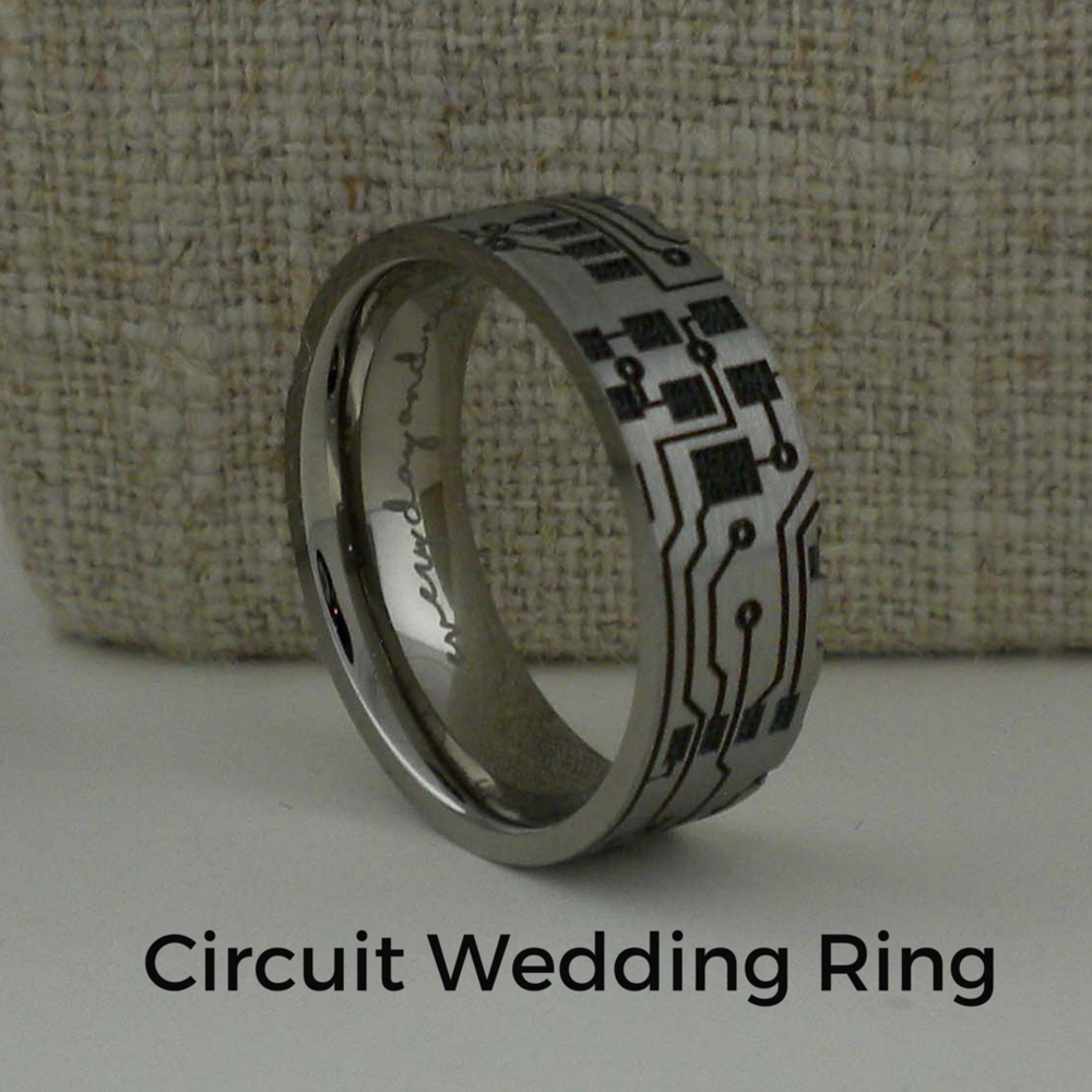 Custom Circuit Wedding  Ring
