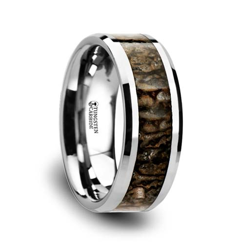 Ordovician Dinosaur Bone Wedding Ring