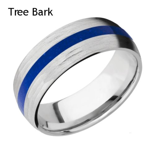 Cobalt Chrome Wedding Ring With Lapis Inlay Unique Titanium