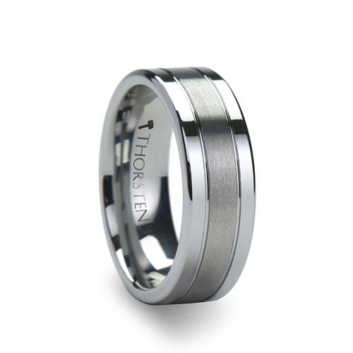 Thorsten Chronos Tungsten Wedding Ring
