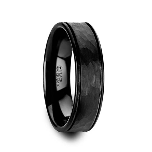 Thorsten Revenant Black Ceramic Wedding Ring