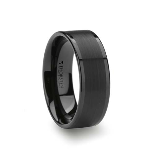Thorsten Vulcan Black Tungsten Wedding Ring
