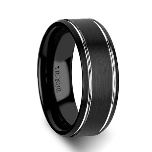 Thorsten Nocturne Tungsten Wedding Ring
