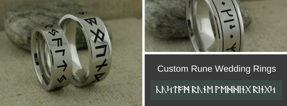 Custom Rune Wedding Rings