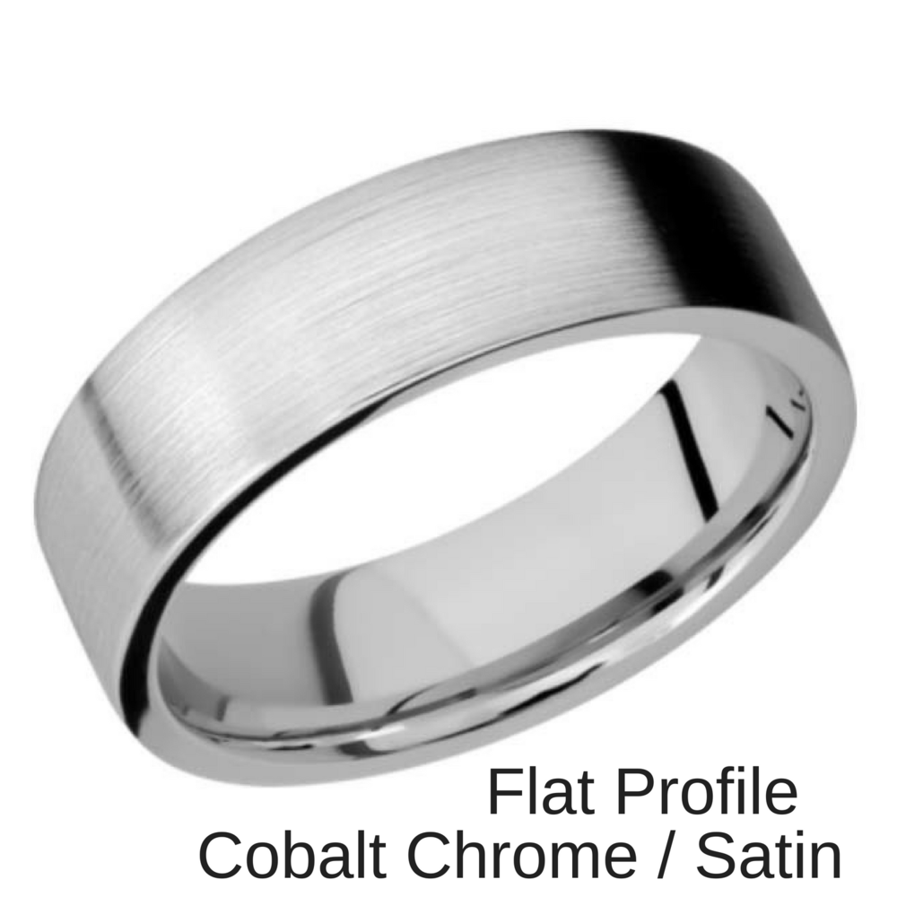 Cobalt Chrome Wedding ring