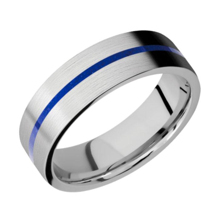 Blue & Satin Finish Thin Blue Line Cobalt Chrome
