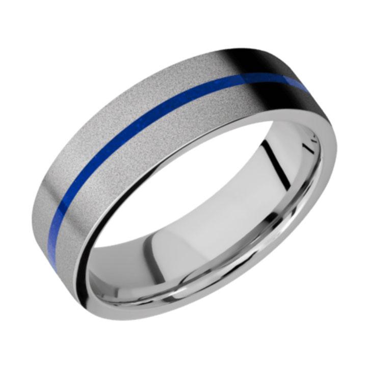 Blue & Bead Finish Thin Blue Line Cobalt Chrome