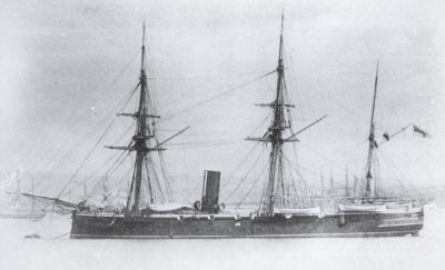 The H.M.S Spartan had a long and courageous naval career of providing gun-salutes for ceremonies.