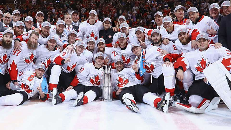 "Pictured, left to right: Each social class and the best of Canadian society grouped together"" (Photo: Hockey Canada)"