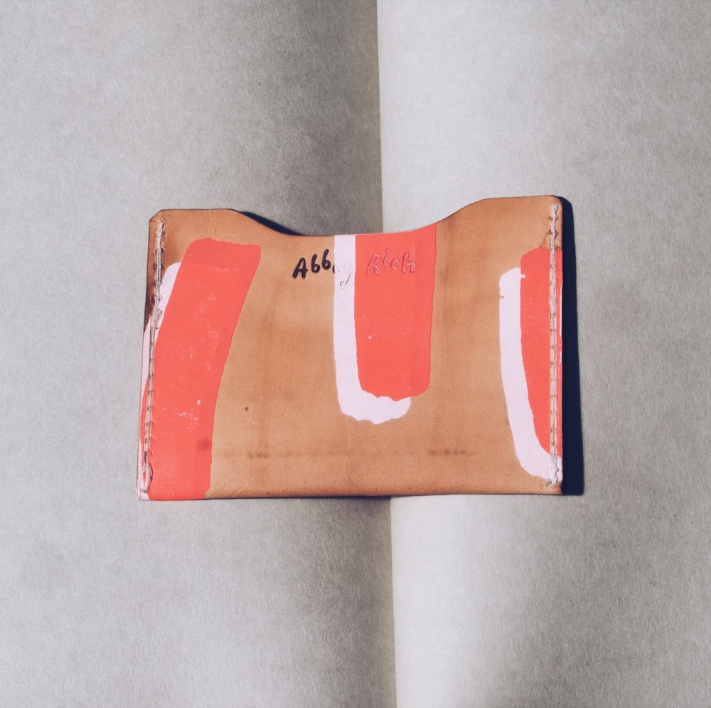 'Leisure Craft x Abbey Rich' wallet  via Abbey Rich website.