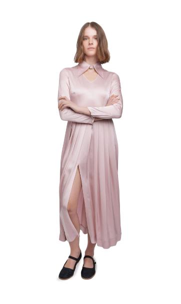 cut-out collar dress