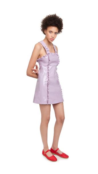 patent apron dress