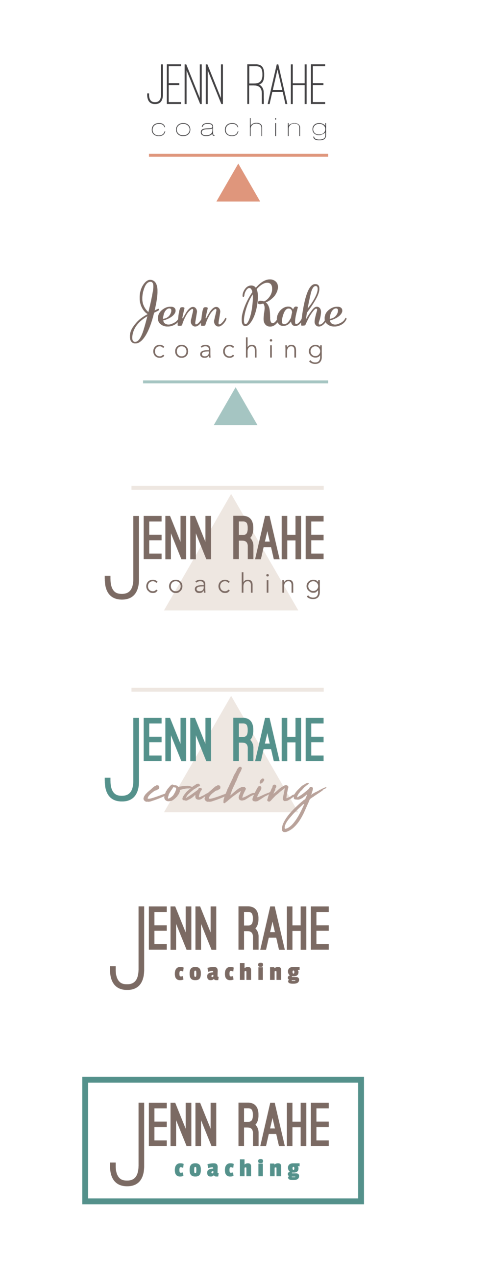 Jenn Rahe Logo concepts