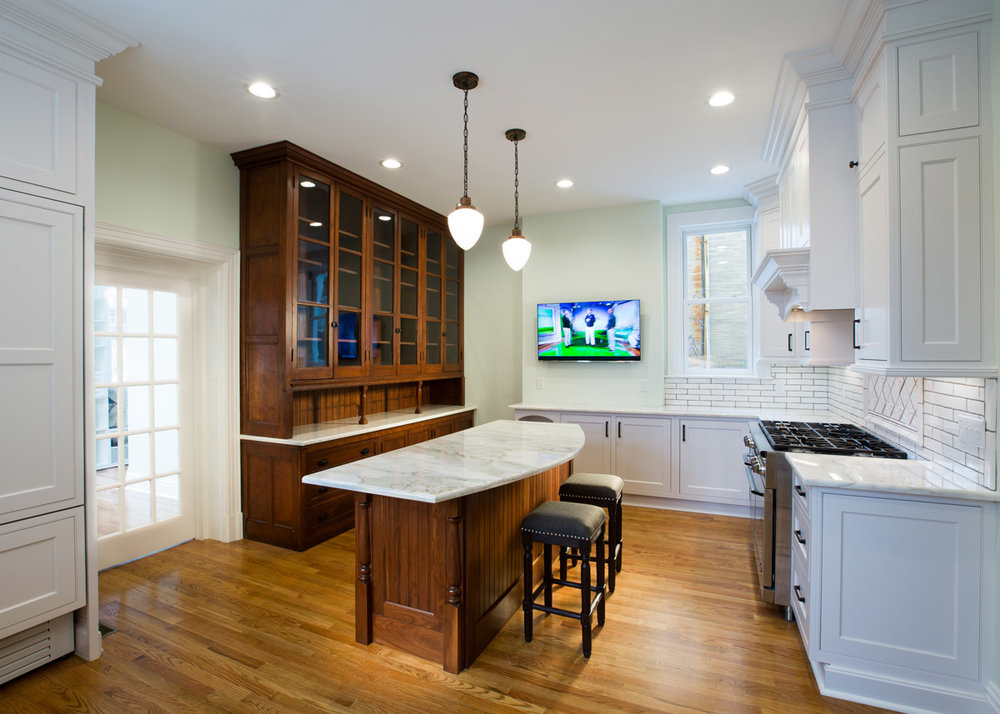 Full Kitchen Remodel - Custom Cabinetry & Trim, New Hardwood Flooring, Antique Cabinet Refinish, New Plumbing & Drywall, Electric