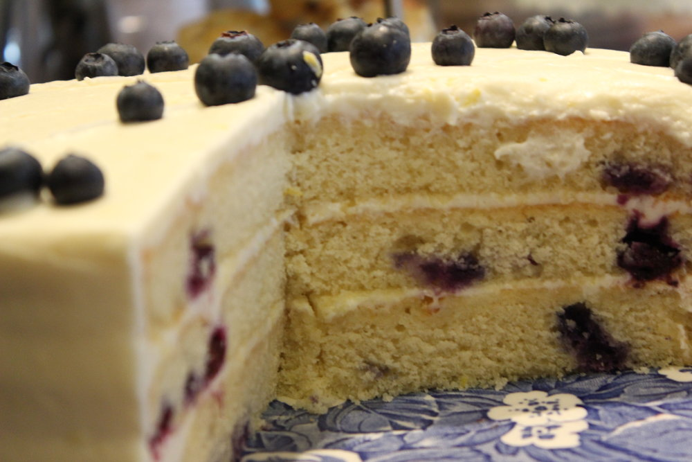 OUr famous blueberry lemon cake