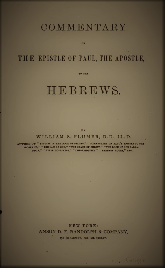 Commentary on Hebrews (book)