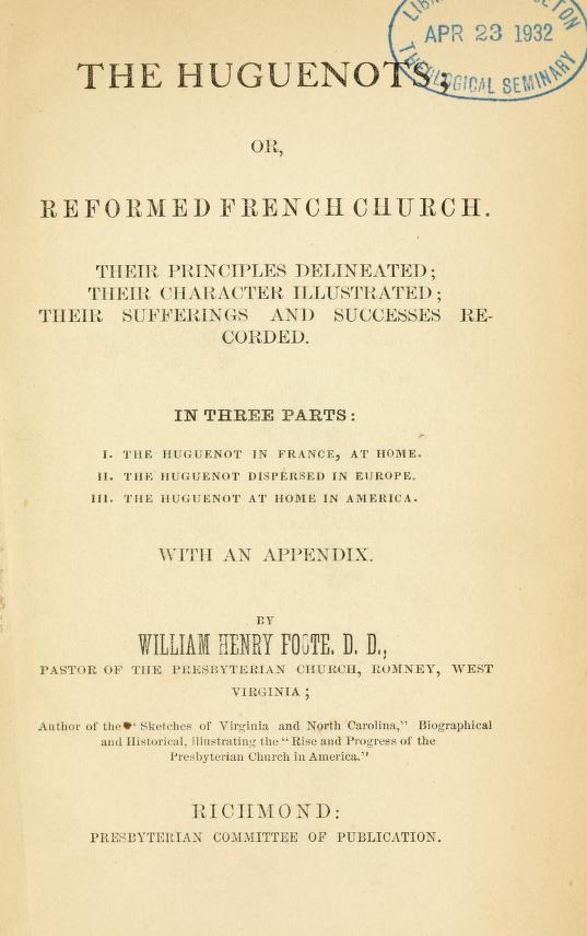 Foote, The Huguenots.jpg