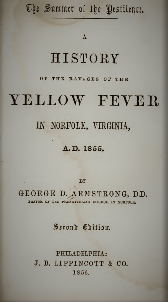 Armstrong, George D - The Summer of the Pestilence (Yellow Fever in Norfolk).jpg