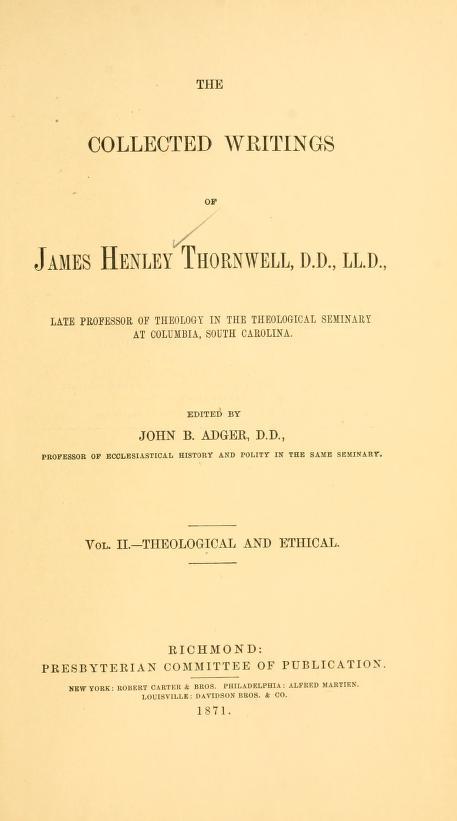 Thornwell, Vol 2.jpg