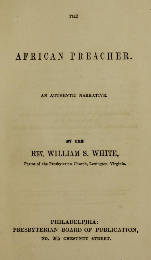 White, William S - The African Preacher.jpg