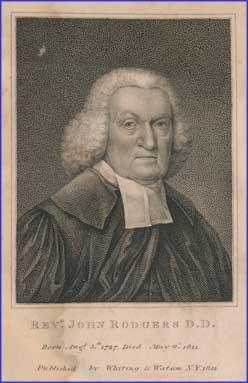 John Rodgers is buried at the Old Brick Presbyterian Church Cemetery, Manhattan, New York.